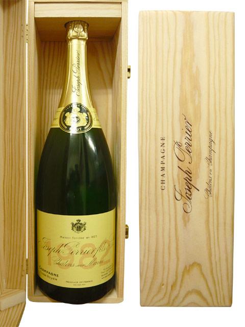 【木箱入】ジョセフ・ペリエ・シャンパーニュ・キュヴェ・ロワイヤル・ヴィンテージ[1985]年究極限定古酒・マグナムサイズ・豪華木箱ギフト箱入Joseph Perrier Champagne Cuvee Royale Brut Vintage [1985] MG Wood Gift Box
