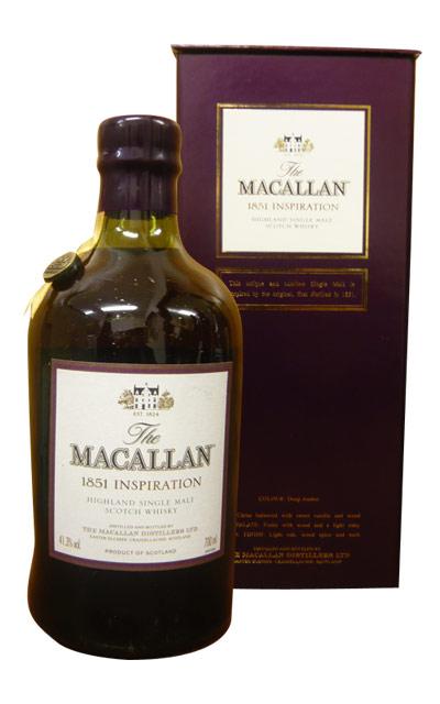 막카란[1851]인스피레이션・700 ml・41.3%・호화상입・막카란 증류소원힐(불어 유리풍고풍 보틀들이) The MACALLAN [1851] INSPIRATION Highlaud Single Mait Scotch Whisky