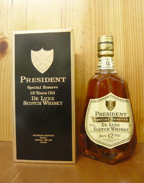 總統(老百威)特別·rizavu·華麗·蘇格蘭威士忌[豪華的珍藏][N.R][有球]President Special Reserve De Luxe Scotch Whisky