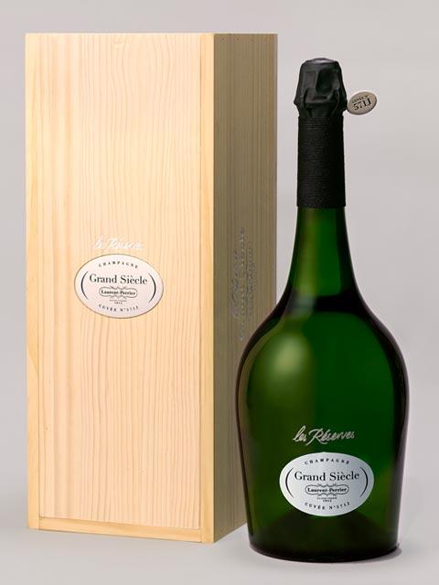 """ローラン ペリエ シャンパーニュ レ レゼルブ グラン シエクル 大型マグナムサイズ(1500ml) 豪華木箱入 全品ナンバリング入 正規代理店輸入品 箱付 (箱入) ギフト ローランペリエ (ローラン・ペリエ)Laurent Perrier Champagne """"Les Reserves Grand Siecle"""""""