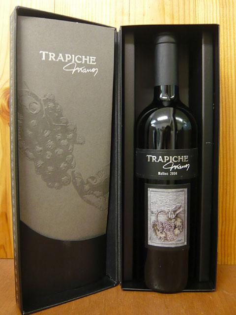 "torapichie、""manosu""marubekku[2004]年、D.O.門多薩、高級torapichie公司最高峰葡萄酒、豪華禮物珍藏.14.5%TRAPICHE""Manos""Malbec[2004]DX Gift Box"
