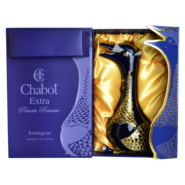 "Chabot""額外""藍色鵝類型瓶可以私人儲備 (40-50 年麥芽) 和超豪華禮盒 (替換插頭) Chabot 額外私人儲備阿藍鵝瓶 (Dx 禮品盒)"