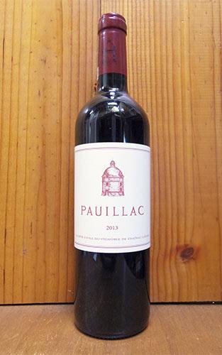 ポイヤック ド ラトゥール 2013 メドック グラン クリュ クラッセ 格付第一級 シャトー ラトゥールの3rd的ワイン フランソワ ピノ― フランス 赤ワイン ワイン 辛口 フルボディ 750mlPAUILLAC DE LATOUR [2013]