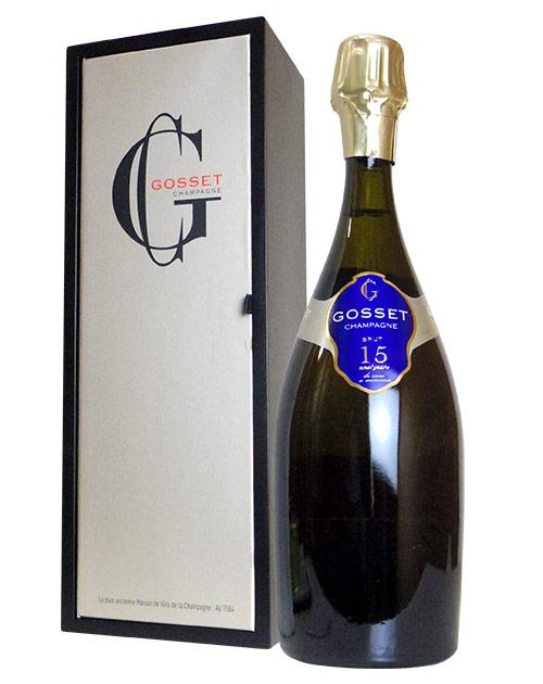 【2本以上ご購入で送料・代引無料】【箱付】ゴッセ シャンパーニュ キャーンザン ド カーヴ ア ミニマ ブリュット N.V 超限定スペシャル キュヴェ AOC シャンパーニュ フランス シャンパン 白 辛口 750ml 正規Gosset Champagne 15 ANS (years) de Cave a Minima Brut