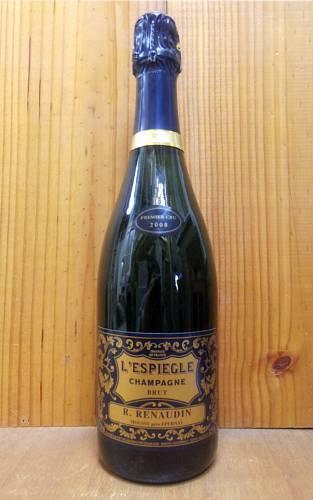2008年 R.ルノーダン シャンパーニュ ブラン ド ブラン プルミエ クリュ 一級 ブリュット レスピエグル ミレジム 2008 R.ルノーダン元詰 泡 白 シャンパン ワイン 辛口 750mlR.Renaudin Champagne 1er Cru Brut L'ESPIEGLE Millesime [2008] R.M. (Moussy Pres Epernay)