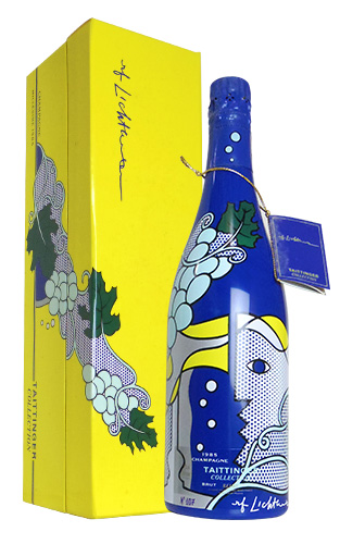 【ギフト箱入】[1985]年 テタンジェ コレクション アーティスト ロイ リキテンスタイン ヴィンテージ 1985 アーティスト コレクション (ボトル デザイン アメリカ人画家ロイ リキテンスタイン氏) 豪華箱入り 泡 白 シャンパーニュ シャンパン ワイン 辛口 750ml