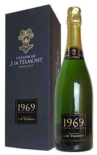 1969年 J (ジ) ド テルモン セレクシオン ヘリテージ ミレジム 1969 シャンパーニュ ブリュット J ド テルモン 正規 泡 白 シャンパン シャンパーニュ ジドテルモン ワインJ. DE TELMONT Champagne Heritage Brut Millesime [1969]