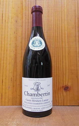 シャンベルタン グラン クリュ 特級 キュヴェ エリティエ ラトゥール 2007 ドメーヌ ルイ ラトゥール 赤ワイン ワイン 辛口 フルボディ 750ml (ルイ・ラトゥール)