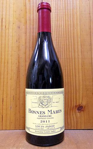 ボンヌ マール グラン クリュ 特級 2011 ドメーヌ ルイ ジャド 直輸入品 赤ワイン ワイン 辛口 フルボディ 750mlBonnes Mares Grand Cru [2011] Domaine Louis Jadot AOC Bonnes Mares Grand Cru