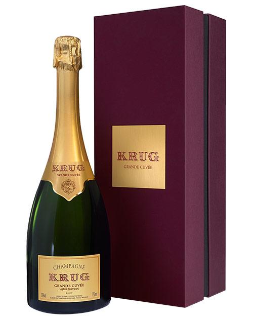 クリュッグ グラン キュヴェ 白 泡 正規 箱付 750ml シャンパン シャンパーニュ(ジルベール&ガイヤール2012年版98点獲得・ワインスペクテーター95点獲得)KRUG Grand Cuvee Brut Champagne AOC Champagne DX Gift Box