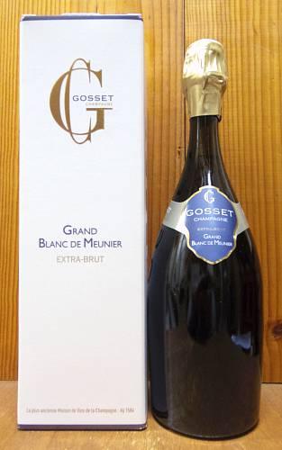 【箱入】ゴッセ シャンパーニュ グラン ブラン ド ムニエ ギフト箱入フランス シャンパーニュ 泡 白 ワイン シャンパン 750mlGosset Champagne Grand Blanc de Meunier Brut N.V AOC Champagne