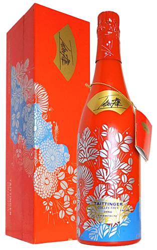 【ギフト箱入】テタンジェ コレクション アーティスト イマイ ヴィンテージ 1988 アーティスト コレクション (ボトル デザイン 日本人画家今井俊満氏) 泡 白 辛口 シャンパーニュ シャンパン 750mlTAITTINGER Champagne Collection Millesime [1988] (Limited Edition)