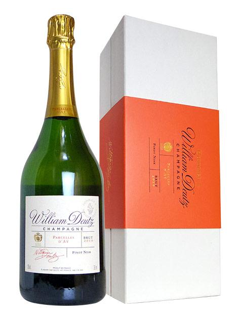 【ギフト箱入】オマージュ ウィリアム ドゥーツ シャンパーニュ ヴィンテージ 2010 ブランド ノワール (アイ村の単一畑のピノ・ノワール100%) ドゥーツ社 180周年記念リリース 箱付 ギフト 泡 白 シャンパン ワイン 辛口 750mlHommage William Deutz Champagne