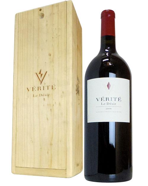 【大型マグナムサイズ】【豪華木箱入】 ヴェリテ ル デジール 2008 マグナムサイズ 超重厚ボトル 箱付 ギフト 正規 赤ワイン ワイン 辛口 フルボディ 1500ml 1.5LVERITE LE DESIR [2008] Sonoma County M.G Size ALC 14.5%