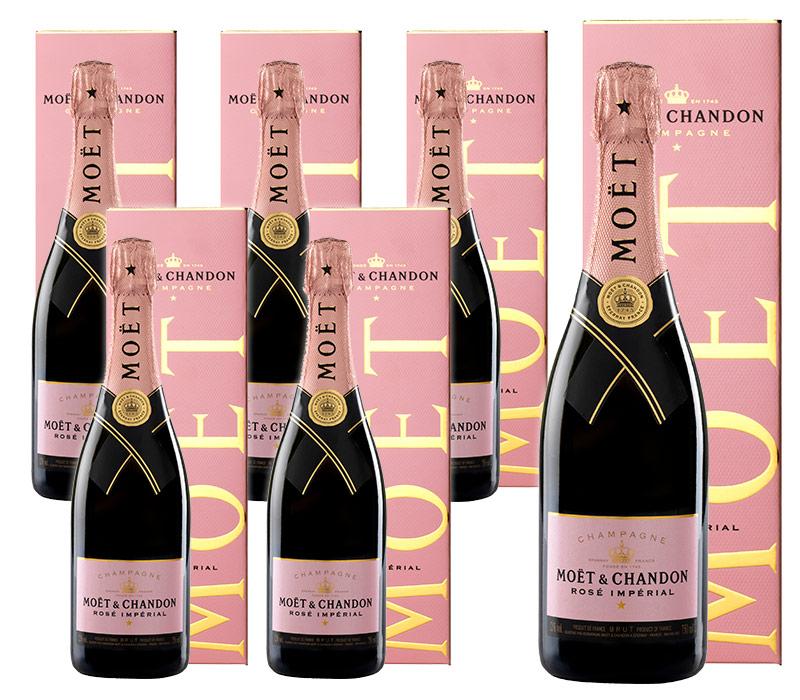 【送料無料・6本セット】モエ エ シャンドン ブリュット アンペリアル ロゼ N.V 正規 箱付 750ml シャンパン シャンパーニュMOET & CHANDON Rose Brut Imperial Gift Box