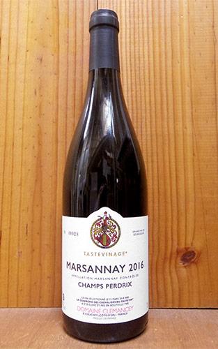 ショップ オブ ザ イヤー 10年連続受賞店舗 マルサネ シャン ペルドリ ルージュ 2016 タストヴィナージュ(利酒騎士団)認証 クレマンセイ フランス ブルゴーニュ 赤ワイン ワイン 辛口 フルボディ 750mlMARSANNAY Champs Perdrix Rouge 2016 Domaine Clemancey AOC MARSANNAY