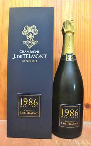 【豪華箱付】1986年 J (ジ) ド テルモン ヘリテージ (エリタージュ) シャンパーニュ ブリュット ミレジム 1986 J ド テルモン社 ギフト 箱入 泡 白 辛口 シャンパン 750ml (ジ・ド・テルモン)J DE TELMONT Champagne Heritage Brut Millesime [1986] J. de Telmont