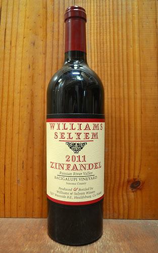 ウイリアムズ セリエム バチガルピ ヴィンヤード ジンファンデル 2011 ソノマ カウンティー ロシアンリバーヴァレー アメリカ 赤ワイン 辛口 フルボディ 750ml (ウイリアムズ・セリエム・バチカルピ・ワインヤード・ジンファンデル)