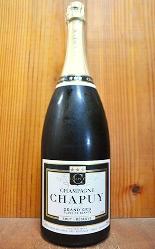 【大型ボトル】シャピュイ シャンパーニュ グラン クリュ 特級 ブラン ド ブラン ブリュット レゼルヴ シャピュイ家 マグナムサイズ フランス AOCシャンパーニュ 白ワイン 辛口 泡 シャンパン 1500ml 1.5L (ブリュット・レゼルヴ・ブラン・ド・ブラン)