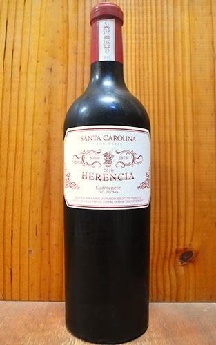【送料無料】エレンシア 2010 チリ カチャポアル バレー D.Oペウモ サンタ カロリーナ ワインズ元詰 赤ワイン ワイン 辛口 フルボディ 750ml 正規品 (サンタ・カロリーナ・ワインズ)HERENCIA [2010] D.O Peumo Herencia 100% SANTA CAROLINA
