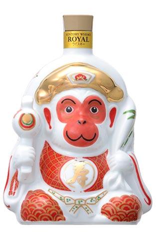 三得利威士卡皇家 (皇家) 2016年財年,猴子瓶申年生肖系列三得利,600 毫升,43%三得利威士卡皇家 2016 年 600 毫升 43%