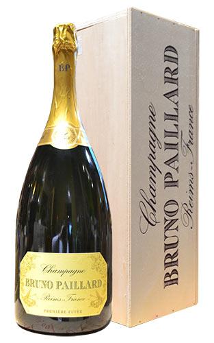 【豪華木箱入】特大ボトル ブルーノ パイヤール エクストラ ブリュット プルミエール キュヴェ ブルーノ パイヤール 箱付 泡 白 辛口 シャンパン 3000ml 3L ワインBruno Paillard Brut Premiere Cuvee 3,000ml AOC Champagne Wooden Box