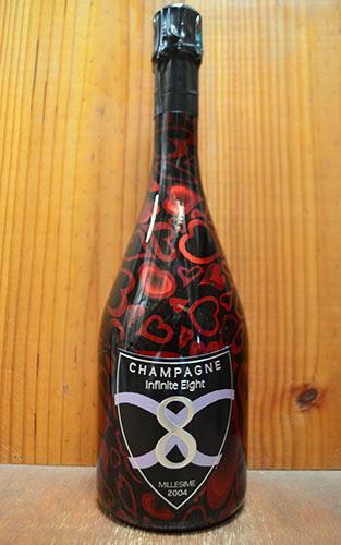 【1本から送料無料】インフィニット エイト (8) シャンパーニュ インフィニット ラブ エディション 2004 ハートの可愛いエチケット 正規 泡 白 辛口 シャンパン 750ml ワインInfinite Eight(8) Champagne Love Edition Millesime Brut [2004] AOC Millesime