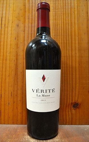 """ヴェリテ""""ラ・ミュゼ""""[2011]年・ヴェリテ・超高級カリフォルニア赤ワイン・正規代理店輸入品・超重厚ボトル VERITE LA MUSE [2011] Sonoma County ALC 14.5%"""