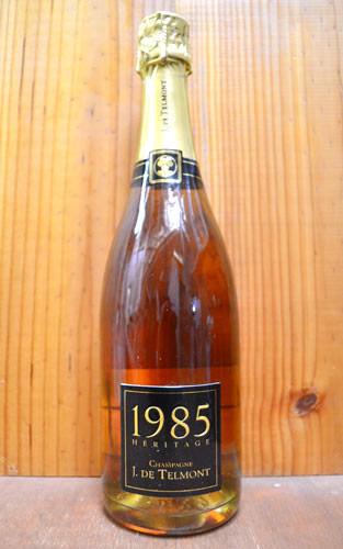 【豪華箱入】1985年 J(ジ) ド テルモン セレクシオン エリタージュ ブリュット ロゼ ヴィンテージ 1985 正規 箱付 泡 ロゼ シャンパーニュ シャンパン ワイン 辛口 750mlJ DE TELMONT champagne Heritage Rose Millesime 1985 J de TELMONT