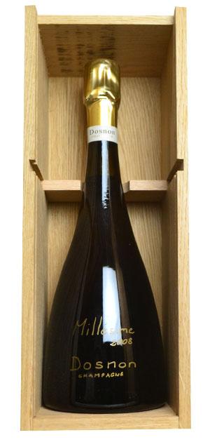 【豪華木箱入り】ドノン シャンパーニュ ヴィンテージ 2008 ブラン ド ノワール (コート デ バールのアヴィレ ランジェ村) ダヴィ ドノン家 AOCミレジム シャンパーニュ 重厚ボトル 泡 白 シャンパーニュ シャンパン ワイン 辛口 750ml