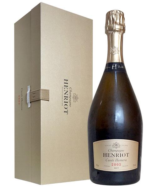 【豪華箱入】アンリオ キュヴェ エメラ ヴィンテージ 2005 正規品 AOCミレジム シャンパーニュ グラン クリュ 特級 超豪華ギフト箱入 白ワイン ワイン 辛口 750mlHENRIOT Champagne Cuvee Hemera Millesime 2005 AOC Vintage Champagne