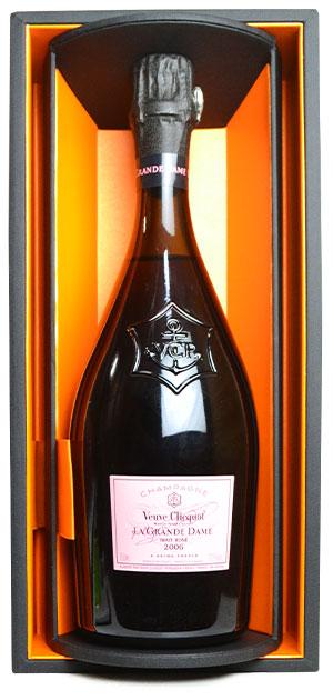 【箱入】ヴーヴ クリコ シャンパーニュラ グラン ダーム ロゼ ヴィンテージ[2006]年 豪華ギフトボックス入り 正規品 AOCミレジム ロゼ シャンパーニュ シャンパン 泡 スパークリング 750mlVeuve Clicquot Ponsardin Champagne LA GRANDE DAME Rose Brut Vintage [2006]