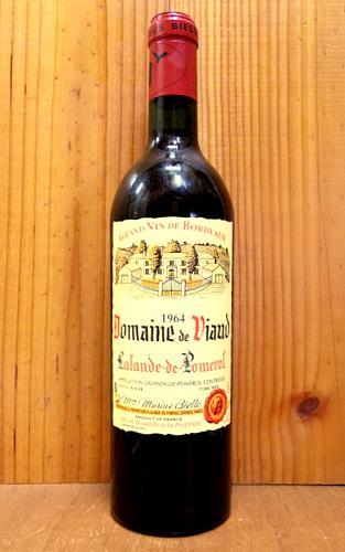 【秘蔵古酒】ラランド ド ポムロール ドメーヌ ド ヴィオー 1964 マリウス ビエル家元詰 赤ワイン ワイン 辛口 フルボディ 750mlDomaine de Viaud Lalande de Pomerol [1964] Vignobles Marius Bielle AOC Lalande de Pomerol