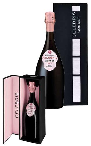 ゴッセ セレブリス ロゼ ミレジム 2007 エクストラ ブリュット シャンパーニュ 箱入 正規品 泡 ロゼ 750mlGOSSET Celebris Rose Extra Brut Millesime [2007] AOC Millesime Champagne DX Gift Box 750ml