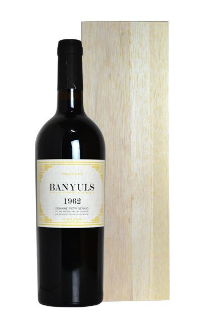 バニュルス 1962 ドメーヌ ピエトリ ジェロー AOC バニュルス 豪華ギフト木箱付 フランス ラングドック ルーション 赤ワイン 甘口 フルボディ 750mlBanyuls [1962] Domaine Pietri Geraud AOC Banyuls (2002 Bottled)