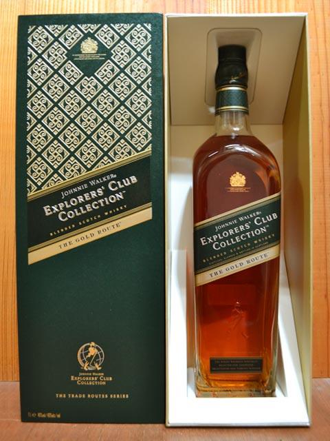 針對尊尼獲加威士忌·黄金·途徑·資源管理器·俱樂部·收集·布倫死亡·蘇格蘭威士忌·威士忌、免稅小賣部的.1000ml.40%,硬體酒精飲料JOHNNIE WALKER THE GOLD ROUTE EXPLORERS'CLUB COLLECTION