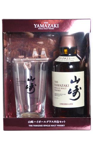 山崎、特製攙蘇打水加冰的威士忌·玻璃杯安排·單人·麥芽·威士忌、正規代理店品、山崎蒸餾室原詰問.350ml.43%THE YAMAZAKI GRASS SET SINGLE MALT SHISKY 350ml 43%