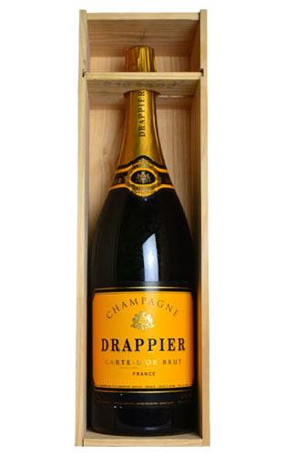 【豪華木箱入り】【大型ボトル】 ドラピエ シャンパーニュ カルト ドール ブリュット 大型ジェロボアム 3,000ml 豪華木箱入 AOCシャンパーニュ 正規品 泡 白 シャンパン ワイン 辛口DRAPPIER Champagne Carte D'or Brut Gift Box AOC Champagne Wodden Box