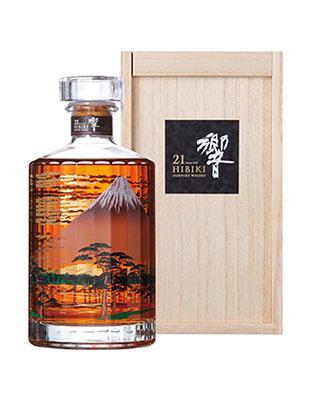 【豪華箱入り・正規品】響・HIBIKI・[21]年もの・2015・赤富士・富士風雲図・意匠ボトル・正規代理店輸入品・ジャパニーズ・ブレンデッド・ウイスキー・700ml・43% ハードリカーHIBIKI AGED 21 YEARS 2015 JAPANESE BLENDED WHISKY 700ml 43%