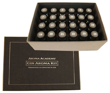 ジン アロマ ノージングキット 24種類 香りの解説書(英語)付き イギリス ハードリカー