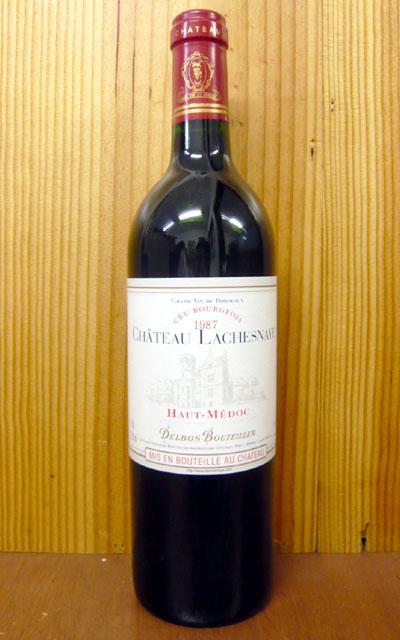 城堡·rashunaie[1987]年齡畢竟限定古酒AOC O·梅德克酒·kuryu·資產階級(城堡·ranessan經營、butie掌門人詰問)Chateau LACHESNAYE[1987]AOC Haut-Medoc Cru Bourgeois(Delbos-Bouteiller)