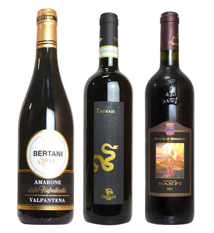 【送料無料】SOY10年連続受賞記念 イタリア三大最高級辛口赤ワイン豪華飲み比べ3本セット イタリアワイン大好きなあなたへ!こだわり最高級の贅沢な辛口赤3本セット(限定120セットのみ)Italian Wine Set