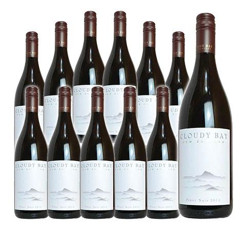 【送料無料・12本セット】クラウディー ベイ ピノ ノワール 赤ワイン 2016 正規 箱なし 750ml×12CLOUDY BAY Pinot Noir [2016]