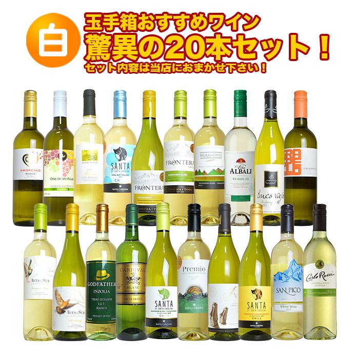 【白ワイン!】玉手箱おすすめワイン驚異の20本セット!