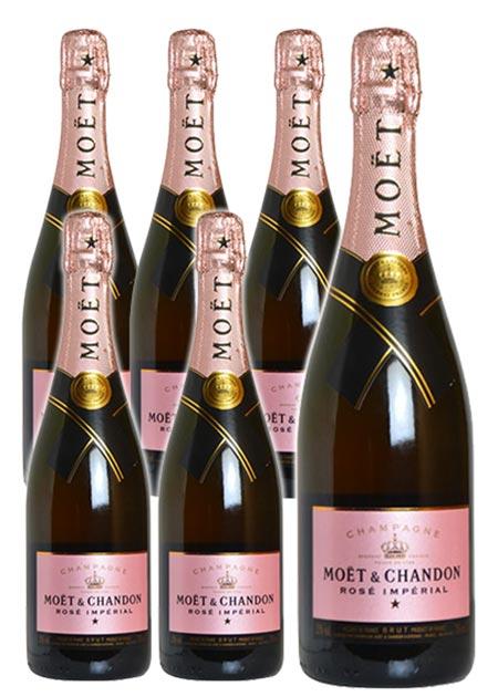 【送料無料・6本セット】モエ エ シャンドン ブリュット アンペリアル ロゼ N.V 正規 箱なし 750ml×6 シャンパン シャンパーニュ