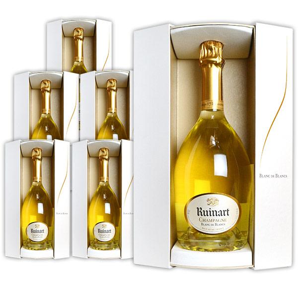 【送料無料・6本セット】ルイナール (リュイナール) ブラン ド ブラン 白 泡 正規 箱付 750ml×6 シャンパン シャンパーニュ AOC ブラン ド ブラン シャンパーニュRuinart Champagne Blanc de Blancs Brut Gift Box