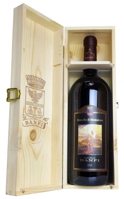 大型ボトル ブルネッロ・ディ モンタルチーノ 2013年 蔵出し特別限定品Brunello di Montalcino 2013 MG Castello BANFI DOCG Brunello di Montalcino 1.5l 1500ml Wooden Box