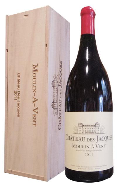 ショップ オブ ザ イヤー 10年連続受賞店舗 大型3000mlサイズ ムーラン ナ ヴァン 2011年 蔵出し限定品 手摘み100% ドメーヌ ルイ ジャド(シャトー デ ジャック)元詰 AOCムーラン ナ ヴァン 豪華木箱入Moulin-A-Vent 2011 W Magnum 3000ml(Jeroboam) Louis Jadot Chateau des Jacques AOC Moulin a Vent
