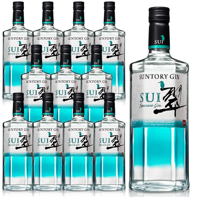 [送料無料·12本セット·正規品]サントリージン 翠(すい)ジャパニーズ クラフト ジン 700ml 40% SUNTORY GIN SUI JAPANEASE GIN 700ml 40% gin_SUIG