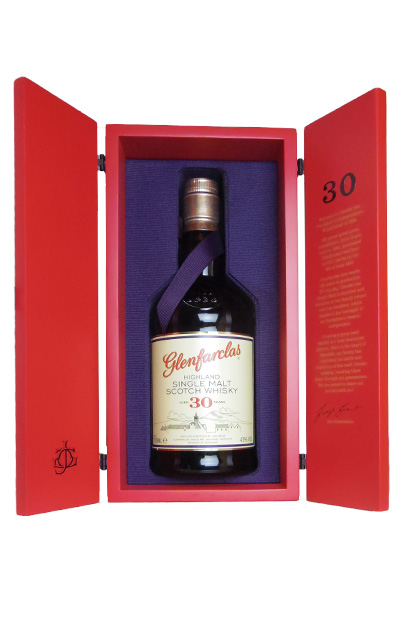 [箱入]グレンファークラス 30年 レッドドア シングル ハイランド モルト スコッチ ウイスキー 700ml 43%GLENFARCLAS AGED 30 YEAR REDDOOR SINGLE MALT SCOTCH WHISKY 700ml 43%:うきうきワインの玉手箱